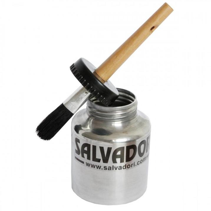 Aluminium can with brush cover    Salv 697-5
